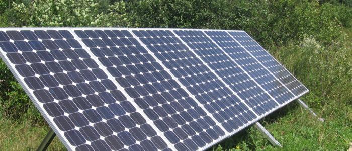 Active solar photovoltaic installation